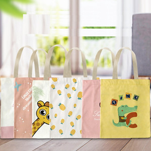 10 styles Creative cartoon tote bags advertising shopping cotton bags canvas bags with high quality and free shipping lxj059