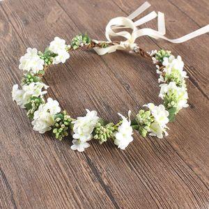 Wedding Flower Crowns Flower Wreath High Quality Silk Flowers Bride Headpieces 55CM BOHO Holiday Travel Flower Garland