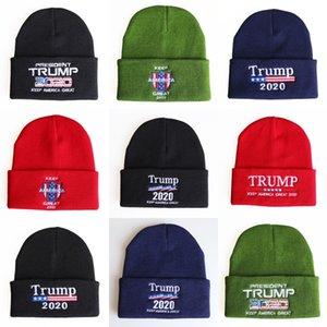 Nouveau Trump 2020 Knit Cap-américain Casual Cotton Turtleneck Cap Automne Hiver Chapeau brodé de couleur unie # 511 Cap