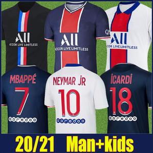 2020 Paris NEYMAR JR soccer jersey kit enfants adultes Verratti MBAPPE maillot de football Marquinhos DI MARIA ICARDI chemise Maillot de Paris 20/21