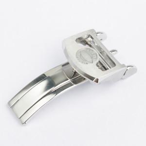 18mm Yüksek Kaliteli Paslanmaz çelik saat bantları kayış Gümüş toka Dağıtım toka için IWC İzle Bantlar Ücretsiz teslimat