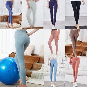Дизайнер женские фитнес штабелированные LU женские тренажерный зал тренировки йоги эластичные густой брюки Lulu Leggings Plisess de diseño полные колготки XS-XL C3CVSA0BF #