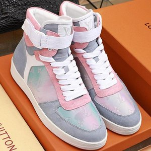 High Quality Men Shoes Boots Luxury Ankle Boombox Sneaker Boot Bottes Hommes With Box Fashion Men Boots Sale Luxury Design L965 Casual Shoes