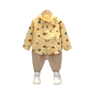 New Spring Autumn Baby Girl Boys Clothes Suit Children Cotton Shirt Pants 2Pcs set Toddler Casual Costume Infant Kids Tracksuits