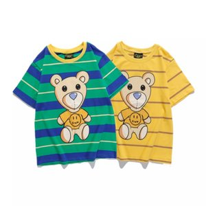 Drewhouse smiley bear FOG style Bieber Wu Yifan the same loose striped T-shirt short sleeve M-XXL
