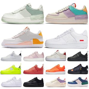 supreme nike air force 1 shadow air force one airforce 1 af1 air forces plataforma hombres mujeres zapatos para correr Utility triple blanco negro para hombre zapatillas deportivas