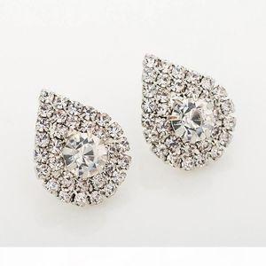 K 2017 Fashion Jewelry Studding Wedding Earrings For Brides Popular Rhinestone Dress Baldpates Natural Stone Women Earings E016