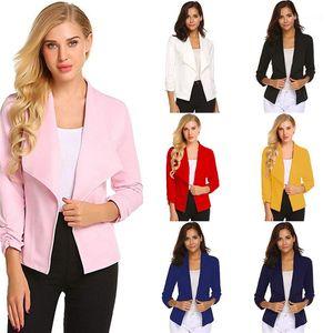 Blazers Slim Lapel Neck Solid Color Printed Urban Leisure Style Blazers Womens 2020 Luxury Designer Clothes Autumn Womens Designer
