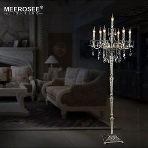 Vintage Crystal Floor Lamp Floor Stand Light Fixture Cristal Candelabra Standing Lamp High Quality Decoration Lighting