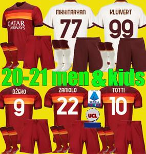 homens crianças 2020 2021 AS PASTORE Dzeko roma TOTTI Perotti futebol roma kits jersey 20 21 criança completa definir Zaniolo uniformes camisas de futebol