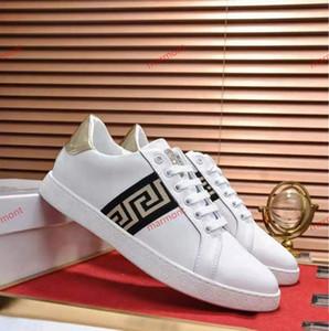 Versace shoes neue niedrige Schuhe der Männer Explosionen Freizeitschuhe High-End-Qualität lussuoso 38-45 Hersteller Promotions kostenlos xshfbcl Versand