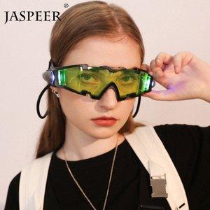 JASPEER Night Light Lunettes Vintage Femmes Clout Mode Rétro Hommes Lunettes de soleil pour enfants Lunettes