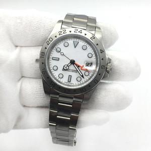 Rolex Горячие Продажа Мужские часы EXP белый циферблат автоматические механические движения из нержавеющей стали мужские часы наручные часы Мужской