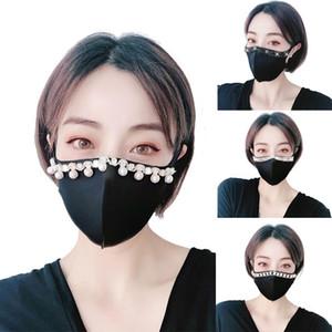 6 Стиль конструктор Black Dust Mask Sunscreen с флэш Алмазный Rhinestone Cotton дизайнер маски для лица взрослых XD23671