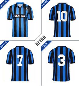 Inter 1988 1990 Brehme Bergomi Matthaus Retro Soccer Jersey 88 90 Berti Zenga Serena Klinsmann Vintage Tableau de football classique
