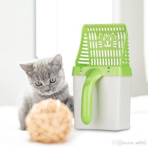 Sturdy And Durable Cat Litter Pets Poop Processor Child Toy Plastic Hollowed Out Grid Snap Button Design green 17xwC1