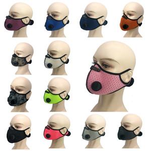 Anti Haze PM2.5 Equitazione Maschera Ear Hanging polvere Sport Maschera Equitazione maschera a carboni attivi 23 stili con la respirazione Valve T3I5920