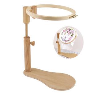 Ständer Stickrahmen Holz Stickerei-Kreuz-Stich-Band-Set Einstellbare Hinterrahmen Kreuzstichrahmen 24cm