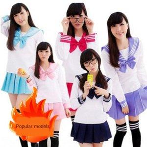 British Korean Clothing student clothing school suit student uniform female JK uniform sailor costume animation costume