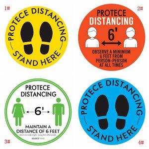 Markt Bodenmarkierungsband Halten Sie Ihre Entfernung öffentliche Anlässe Bodenaufkleber für Schule Line up Boden Social Entfernung Sticker DBC BH3872 Anmeldung