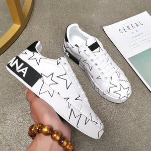 BEST QUALITY Mens Casual ACE designer Shoes Spring Copper White Black Leather Youth Student Woman Designer Flats Sneakers