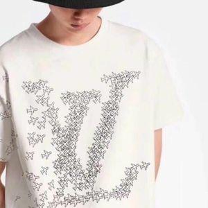 LVLOUISVVVUITTONT-Shirts Summer Men Women Designer Black White Mens Fashion Designer t Shirts Top Short Sleeve