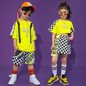 2020 Costumes Meninas Hip Hop Dance para Costumes Crianças Jazz Street dança roupas Ballroom modernos Meninos Stage Outfits DQS4904