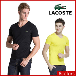 الصيف العلامة التجارية الجديدة الفاخرة أزياء الرجال التي شيرت الشارع الشهير الرجال المرأة القصيرة Sleev رجل المصمم تيز أسود حجم S-6XL لاكوست