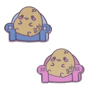 This couch potato body positive pins will bring you an enjoyment smile.