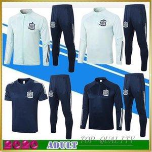 2020 스페인 성인 자켓 Tracksuit Camiseta España Morata 20/21 폴로 셔츠 Fabregas R Fabregas Ramos Diego ISCO 축구 자켓 훈련 정장