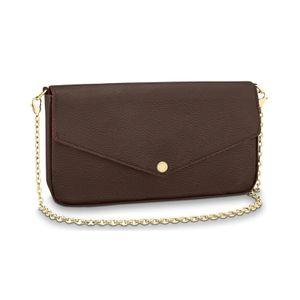 2020 avec boîte design femmes hobo cru sac chaîne en argent sac à bandoulière sac à main fourre-tout clutchbag POCHETTE FÉLICIE avec chaîne amovible M61276