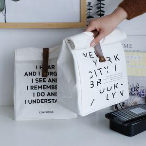 Baffect ماء معزول الغداء أكياس قماش من القطن حقيبة التخزين السفر نزهة الحقيبة للجنسين الحرارية عشاء حالة صندوق