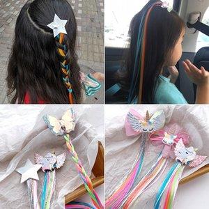 hairpin Dia crianças e meninas Princesa Super Hair fadas acessórios cocar clipe peruca peruca de bebê bonito coreano das crianças
