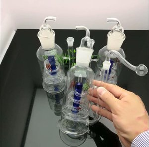 new Europe and Americaglass pipe bubbler smoking pipe water Glass bong Old classic large mouth pan dragon glass water bottle