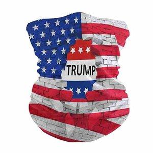 Trump Gesichtsmasken American Flag 3D-Druck Digital Magic Schals Turban Mode Reitschutz Designer Gesichtsmaske CYZ2541