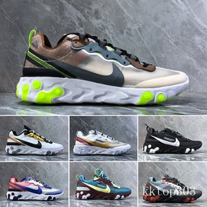 2019 React Element 87 Volt 55 Game Royal Taped Seams Running Shoes For Women men 55s Blue Chill Trainer 87s Sail Sports Sneakers A7C1B