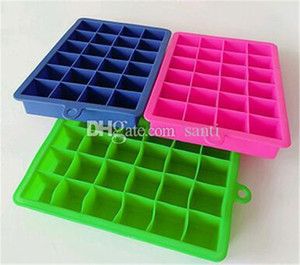 Home Bar 24 grid Cube Mold Square Shape Silicone Ice Tray Fruit Ice Cube Ice Cream Maker Kitchen Bar Drinking Accessories