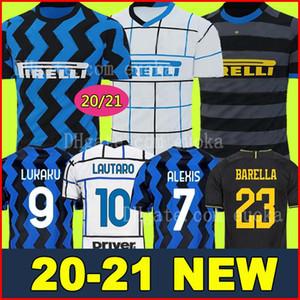 Mushup 20º aniversário ICARDI LAUTARO Martinez Inter 2019 2020 camisa de futebol de Milão PERISIC NAINGGOLAN campeão jerseys 18 19 20 camisa de jogo de futebol