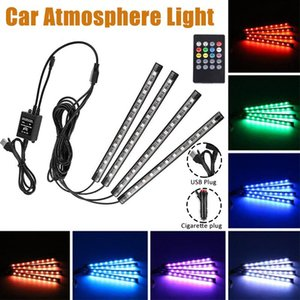 36Leds Car LED Strip Light Car Foot Lights RGB Colors Styling Decorative Atmosphere Lamps Interior Light With Remote