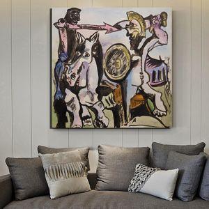 Wall Art Toile Affiche imprimée Pablo Picasso Peinture Style Minimaliste nordique modulaire Photos Décoration pour le salon