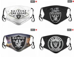 2020 nuovo progettista di modo di lusso 5 strati riproducibile maschera di All Star Las Vegas Raiders squadra 2020 Nuova polvere di cotone ripetibile Mask PM2.5