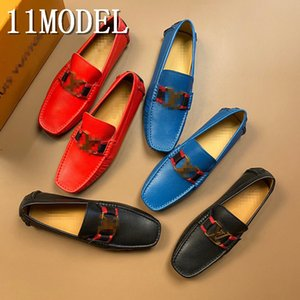 21SS 2020 Suede Loafers Men Bottoms Breathable Casual Shoes Man luxurious Brans Flat Loafer Slip On Driving Shoes Plus Size 38-46
