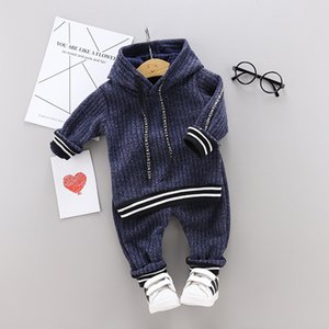 2020 Spring Baby Boy Set Moustache Plaid Printed Cotton Tops+Pant 2PCS Newborn Clothes Toddler Boy Outfit Set Party Birthday