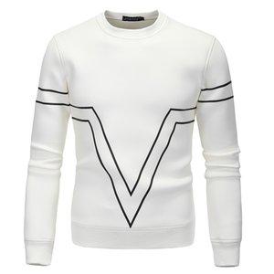 Hommes Hoodies 2020 Nouveau Casual Mode d'arrivée de haute qualité à manches longues O-Neck Sweat Noir Blanc Rouge