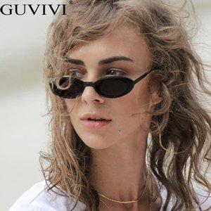 Para Personalidad de moda las gafas de sol Gafas de sol Negro Color de pequeños marcos Mujeres Guvivi redondo rosado de la vendimia Vaca Mujer Gafas Pkmsh