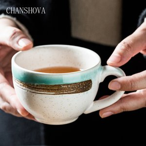CHANSHOVA 200ml Chinese Retro Personality Ceramic Cup China Porcelain Coffee Cup Coffee Cup Milk Tea Breakfast H005