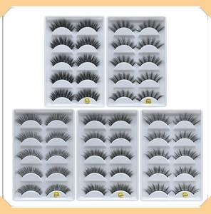 3D 밍크 속눈썹 아이 메이크업 밍크 거짓 속눈썹 소프트 자연 두꺼운 가짜 속눈썹 3D 눈 속눈썹 연장 미용 도구 (12 개) 스타일 DHL 무료