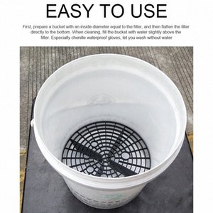 Onever 23,5 centímetros Car limpeza ferramenta durável resistente Filtro Wash Grit Guard Insert Washboard Bucket Net Para Areia Isolamento yzDE #