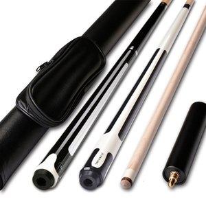 Snooker Bilardo Cues 10 / 11.5 / 12.75mm 58 İnç Bilardo Snooker Maple Havuz Cue Çubuk ile Cue İpucu İçin Dokuz top Ball Eklenti sayesinde gel