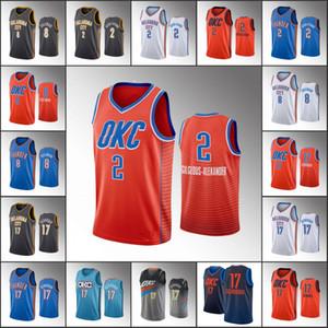 Los hombres de OklahomaCiudadTruenoBaloncesto Jersey Shai Gilgeous-Alexander Danilo Gallinari Dennis SchroderNBA 2019-20 jerseys